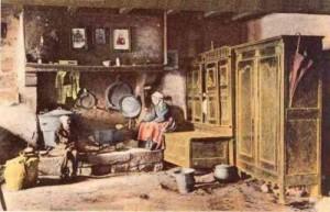 intérieur ferme bretonne